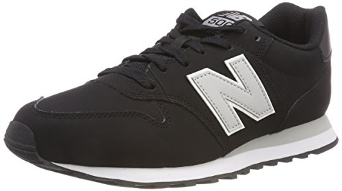 New Balance 500, Scarpe Sportive Uomo, Nero (Black/Rain Cloud/White Bkg), 41.5 EU