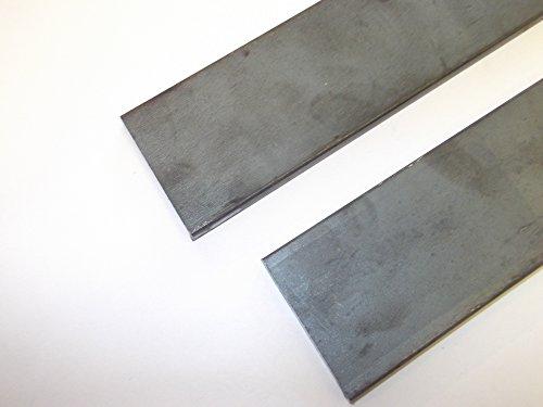 2x Mild Stahl Flat Bar schwarz Finish 250mm Länge 25mm Breite 3mm dick (Finish Bar Eisen)