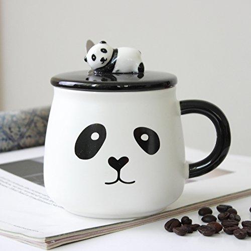 Tazas de cerámica pintada a mano con precioso panda gigante conservac
