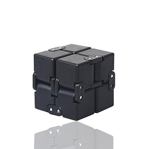 szwanhuixing Fidget Cube en el estilo con infinito Fidget Cube alivio de estrés y juguetes de ansiedad para los niños y matar el tiempo de los juguetes Infinite Cube para ADD, ADHD, ansiedad y autismo Adultos y niños (negro)