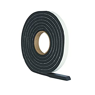 StormGuard 05SR6843053BL 3.05m Rubber Foam Jumbo Draught Excluder Weather Strip Seal - Black