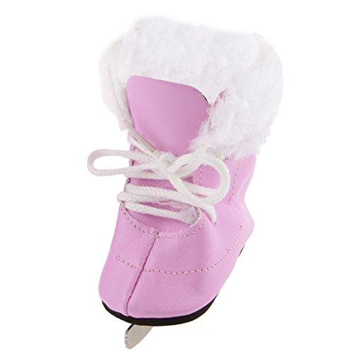 T TOOYFUL Pink & White Pelz Ordnung Winter EIS Skates Schuhe Passen 18 Zoll American -
