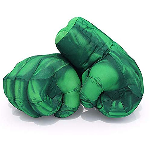 2 (Pcs) Kinder Spinnen Boxen Spielzeug Handschuhe Plüsch Hulk Handschuhe Hulk Kind Geburtstag Weihnachten Spielzeug Halloween Geschenk 11 (In),Green