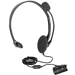 OSTENT Headset Kopfhörer Kopfhörer mit Mikrofon kompatibel für Microsoft Xbox 360 Live Game – Farbe Schwarz