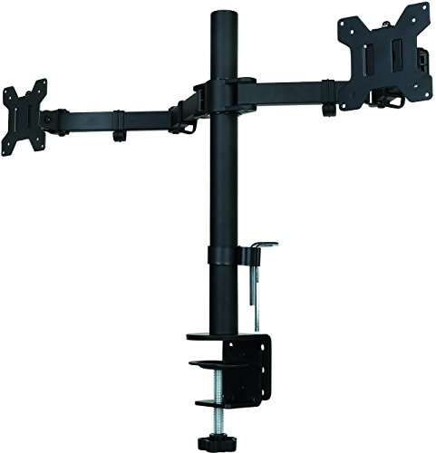Suptek Fully Adjustable Dual Arm LCD LED Monitor Desk Mount Stand Bracket for 13