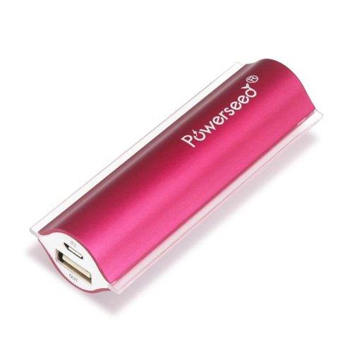 Powerseed Angel Eye 2400mAh Batteria esterna portatile, USB power bank, Rosa Fucsia