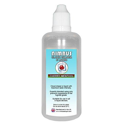 100ml Cherry Menthol E Liquid 80/20 Cloud Chaser Vape Juice Vape Liquid 0mg eJuice E Cigarette Liquid ecig liquid (Nimbus E Liquid)