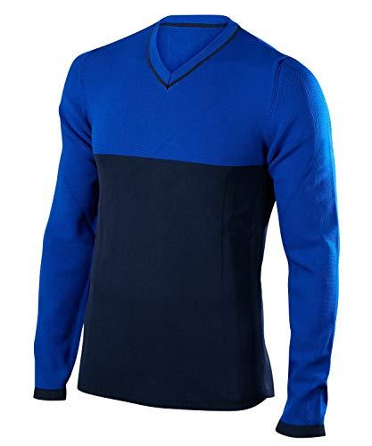 FALKE Herren Skipullover Pullover V-Neck Men Cobalt, L