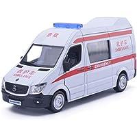 QAQW 5 Pulgadas De Ambulancia De Aleación Modelo De Coche De Metal para Benz Sprinter Ambulancia