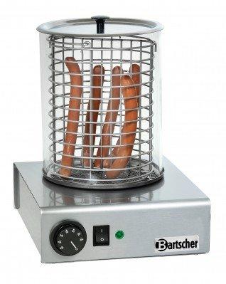 Bartscher Hot-Dog-Gerät mit Glaszylinder 30 - 90 °C A120401