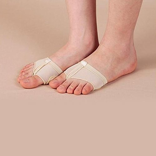 Zooarts tutte le dimensioni del piede nudo perizoma, pattini/Lyrical Dance–bambino e adulto, Cotone, Beige, x-large