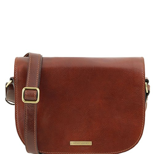 Tuscany Leather Rachele - Sac bandoulière en cuir Marron Sacs à bandoulière en cuir Marron