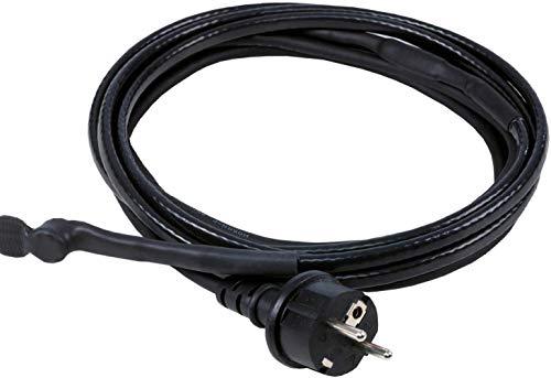 as - Schwabe Eis-Stop-Heizkabel - 2 m Frostschutz-Heizkabel inkl. Thermostat - 230 V, 50 / 60 Hz Heizleitung mit Schutzkontaktstecker - 10 W/m Wärmekabel gegen Frost - IP44 - Schwarz I 67010