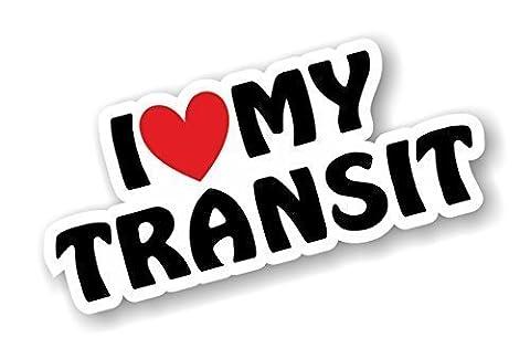 I Love Heart Luv My Transit Design For Mk1 Mk2 Mk3 Mk4 Mk5 Mk6 Mk7 Ford Transit Van Enthusiast Vinyl Car Sticker Decal 170x75mm