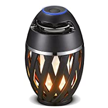Luceco LED Bluetooth Flame Speaker, USB Charged, IP65 Rated, Black