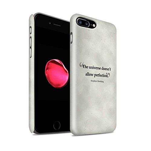 STUFF4 Matte Snap-On Hülle / Case für Apple iPhone 8 Plus / Stephen Hawking Muster / Berühmte Zitate Kollektion Stephen Hawking