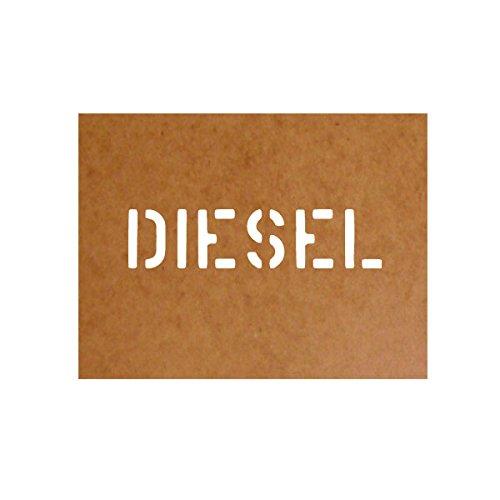 Preisvergleich Produktbild Diesel Schablone Stencil Bundeswehr Militär US Army Kraftstoff passend für Mercedes Benz Wolf G Model VW Iltis für Lackierung (2,5x11cm) - Ölkarton Lackierschablone #15100