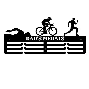 Knowooh Estante de exhibición de medallas Percha de Medalla de Acero Inoxidable Percha de premios Deportivos Percha para triatlón Maratón Atletismo Natación Fútbol Spartan Race (N) 10