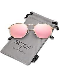 9f6555ac8f SOJOS Clásico Polígono Espejo Lentes UV Portección Unisex Gafas de Sol  Polarizado SJ1072