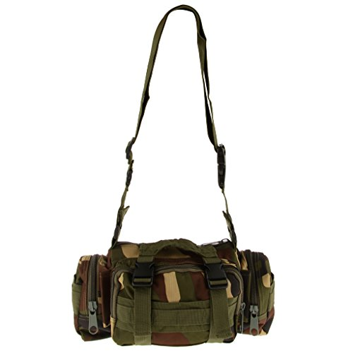 Militär Taktische Hüfttasche Gürteltasche Außenschulter-Handtasche Camping Outdoor Tasche Beutel Dschungel Camo