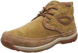 Woodland Mens Camel Leather Trekking and Hiking Boots - 7 UK/India (41 EU)