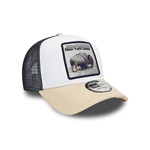 Imagen de a new era era era ny state bison 940 af trucker ne sfp , unisex adulto, white, talla única alternativa