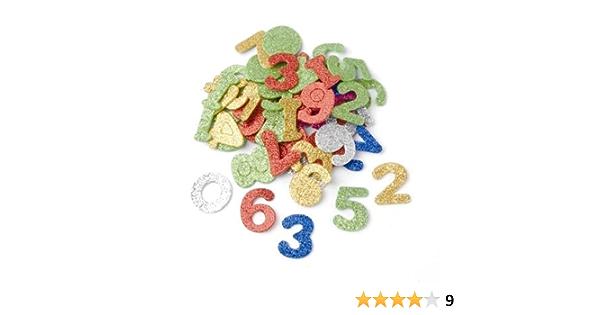 Mehreres Mehrfarbig 20 x 11.6 x 2 cm Glorex Moosgummi Set Formen Glitzer