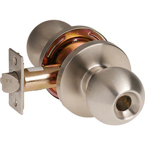 2-3//4 Backset Bright Polished 605 Corbin Russwin CK4457-GWC-605-LC Grade 2 Storeroom Right Hand Reversible Steel//Brass 2-3//4 Backset