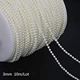 New Brand Ivory Fishing Line Artificial Pearls Beads Chain Garland Pearl Lace DIY Wedding Party House Decoration