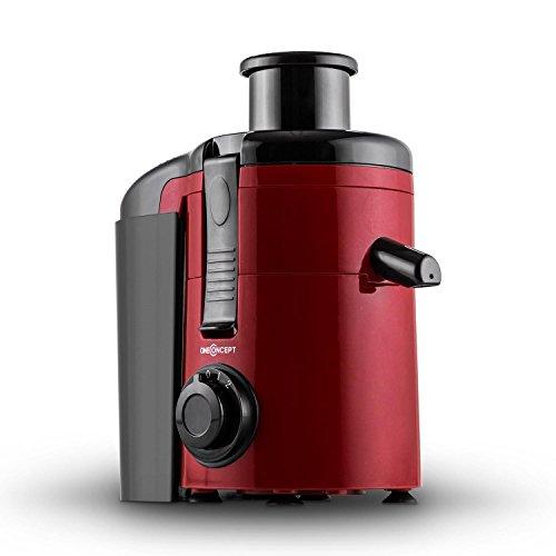 Oneconcept Ninja - Exprimidor, 250 W, 11000 rpm, 1.2 l, color rojo y negro