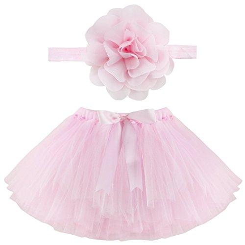 Musuntas Baby Prop Fotografie, Baby Kostüm,Foto Fotografie Outfits Baby Kostüm Tütü Rock Pettiskirt Mädchen Blumen Stirnband (Baby Kostüm Blume)