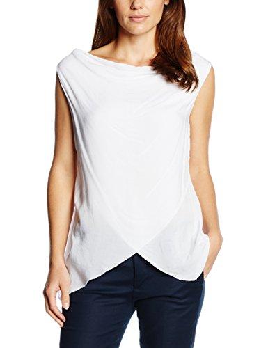 Zabaione Damen T-Shirt Ka Shirt Wasserfall Weiß (white 10001)