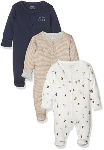 Mamas & Papas 3Pk Camping Sleepsuits, Pijama para Bebés, Multicolor, Recién Nacido...