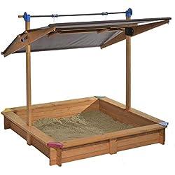Gaspo Mickey II Bac à sable avec toit parasol orientable