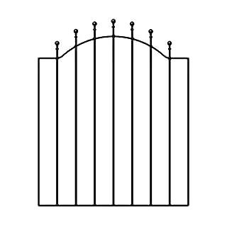 Weston Ball Top Garden Gates 920-990mm GAP X 1041mm HIGH WESC+FSTB Metal Iron Steel