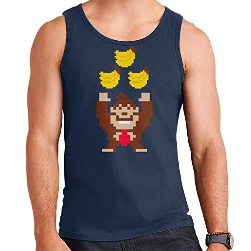 Donkey Kong Tribananas Men's Vest Navy Blue
