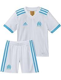 2017-2018 Olympique Marseille Adidas Home Little Boys Mini Kit