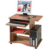 Links - Office 7 -  ADDA - Porta pc. Dim: 80x50x75 h cm. Col: Noce. Mat: Legno massello.
