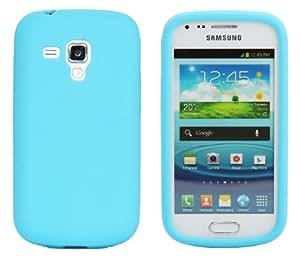 Luxburg® Housse Etui Coque Samsung Galaxy S Duos silicone case TPU Turquoise / bleu clair