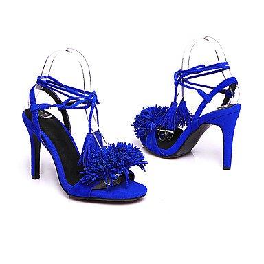 LvYuan Da donna-Sandali-Ufficio e lavoro Serata e festa Formale-Altro-A stiletto-Scamosciato-Blu Rosso Red