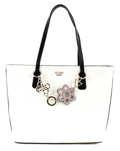 Guess Damen Bags Hobo Schultertasche, Mehrfarbig (White Multi), 13x29x43 centimeters (Hobo Taschen Guess)