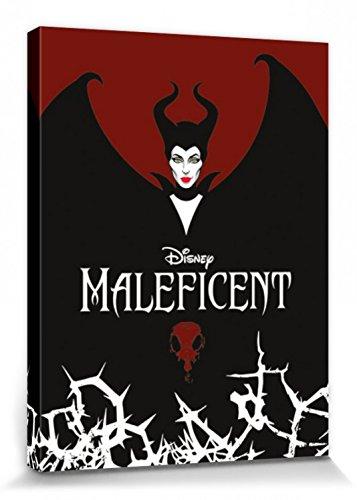 1art1 Set: Maleficent, Die Dunkle Fee, Flügel Poster Leinwandbild Auf Keilrahmen (80x60 cm) + 1x Aktions-Home-Deko ()