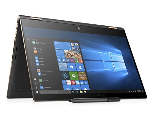 HP Spectre 15-ch004na x360 15.6 Inch Ultra HD Convertible Laptop (Dark Ash Silver) - (Intel i7-8705G, 16 GB RAM, 1 TB SSD, Radeon RX Vega M Graphics, 4 GB Dedicated, FHD IR Webcam, Windows 10 Home)