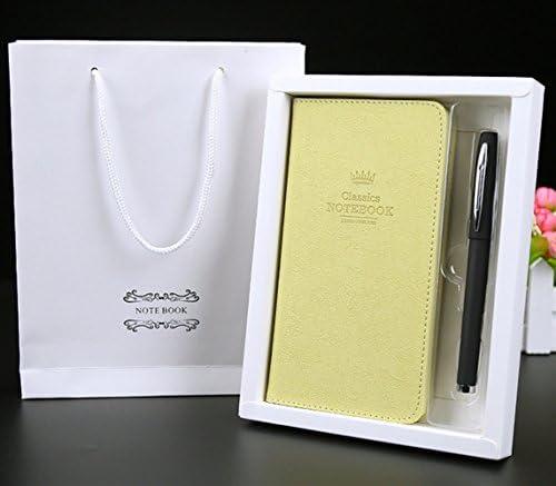 WWUUOOPRT Ensembles de Fournitures Scolaires A6 Gift Box en Cuir Notebook School Supplies Notepad Gift Set (Beige) B07GCYLJWG | Approvisionnement Suffisant