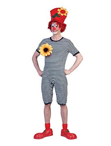 Clown Kostüm Badeanzug Blau Weiß Gr. XXL