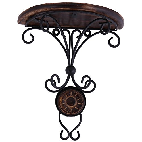 ITOS365 Beautiful Wooden Decorative Corner Wall hanging Bracket Shelf