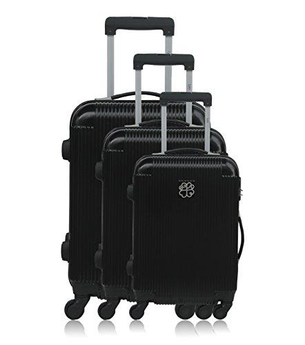 Les P'tites Bombes Set di valigie, nero (nero) - BD-12229