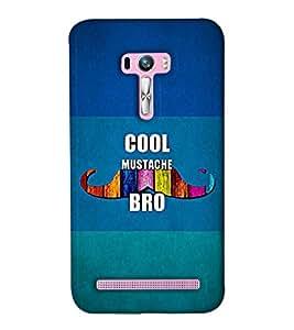 Go Yankee cool mustache bro Back Cover For Asus Zenfone Selfie