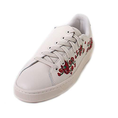 innovative design a82ce d7788 Puma Women s s Basket  Cherry Bombs  S.tsai Low-Top Sneakers Beige Powder