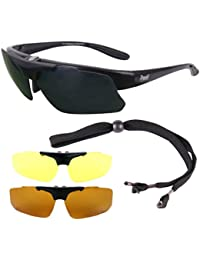 Catch Pro POLARISED RX FISHING SUNGLASSES Frame for Prescription Spectacle Wearers, with Interchangeable Anti Glare Lenses. UV400 Protection. Glasses Suitable for Distance, Bifocal & Varifocal